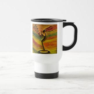 Sax Player Black Art Gift_Travel Mugs by Injete