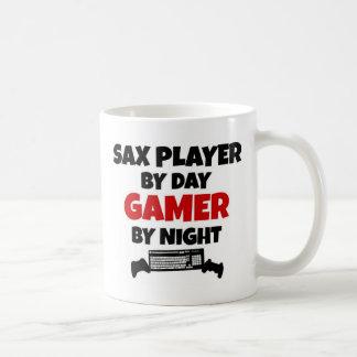 Sax Player by Day Gamer by Night Coffee Mug