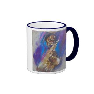 Sax player mug