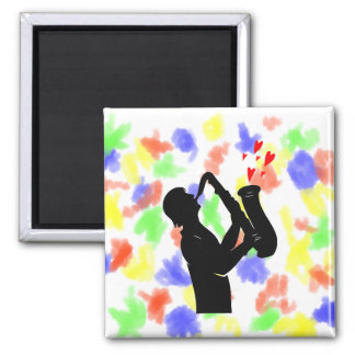 sax player side outline hearts bk.png square magnet