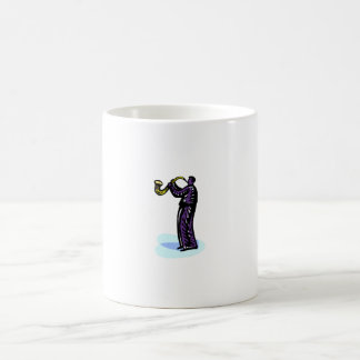 Sax Player Stylized Purple Version Mugs