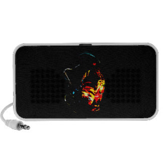 Sax Player Tropical Side View Travel Speaker
