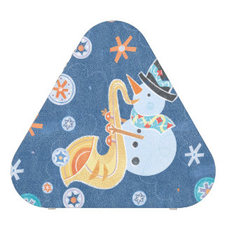 Sax Snowman Making Christmas Holiday Music