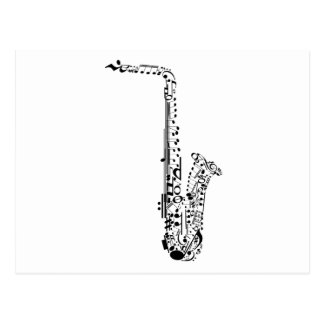 Saxaphone Notes Postcard