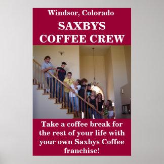 Saxbys Coffee Crew Poster