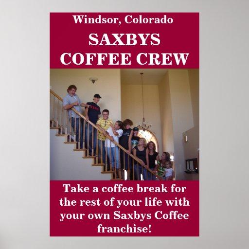 Saxbys Coffee Crew Print