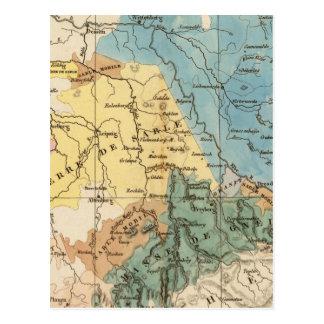 Saxe mineralogique postcard