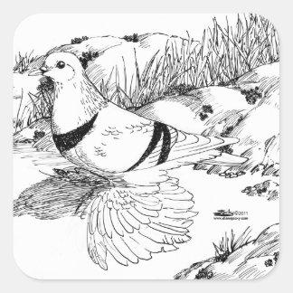 Saxon Crescent Pigeon 1973 Square Sticker
