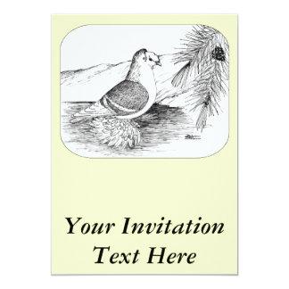 Saxon Shield Pigeon 1973 13 Cm X 18 Cm Invitation Card