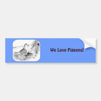 Saxon Shield Pigeon 1973 Bumper Sticker