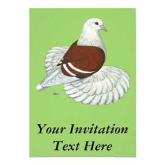Saxon Shield Red White Bar 13 Cm X 18 Cm Invitation Card