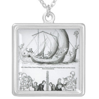 Saxon Ship Silver Plated Necklace