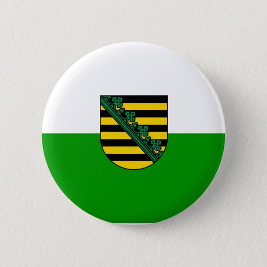 Saxony , Germany 6 Cm Round Badge