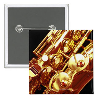Saxophone 15 Cm Square Badge