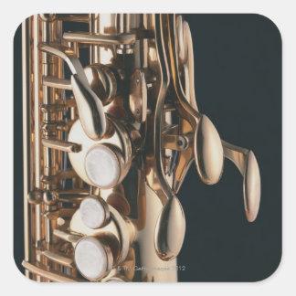 Saxophone 5 square sticker