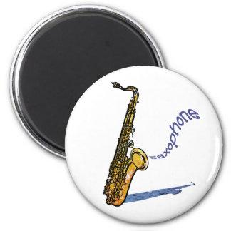 Saxophone 6 Cm Round Magnet