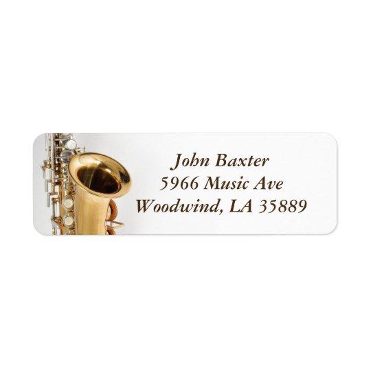 Saxophone address label