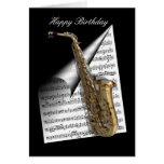 Saxophone and Music sheet Greeting Card