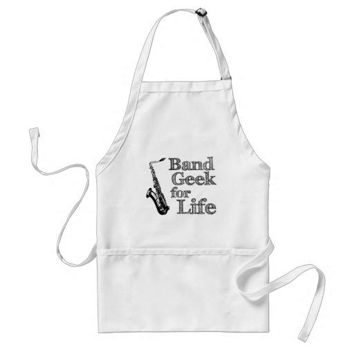 Saxophone Band Geek Adult Apron