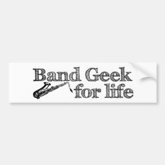Saxophone Band Geek Bumper Sticker