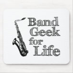 Saxophone Band Geek Mouse Pad