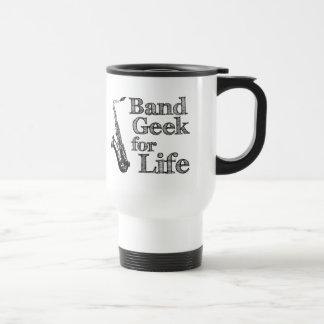 Saxophone Band Geek Travel Mug