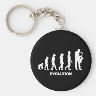 Saxophone Basic Round Button Key Ring