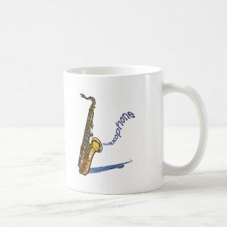 Saxophone Basic White Mug