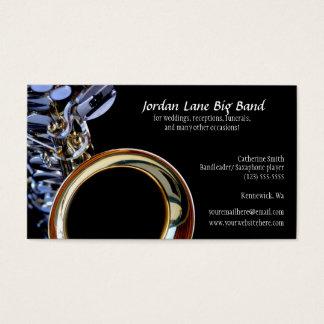 Saxophone Big Band Profile Business Card