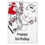 Saxophone Birthday Card