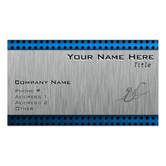 Saxophone; Brushed metal-look Double-Sided Standard Business Cards (Pack Of 100)