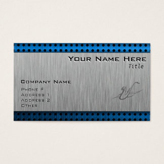 Saxophone; Brushed metal-look Business Card