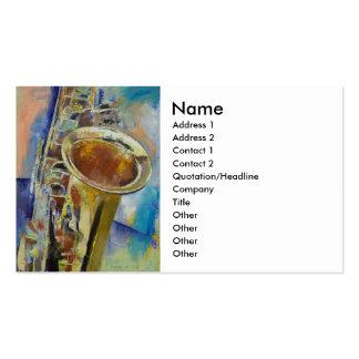 Saxophone Business Card