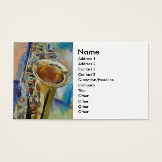 Saxophone Business Card
