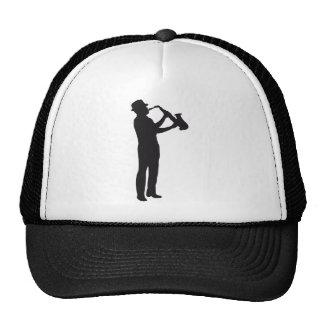 saxophone trucker hats