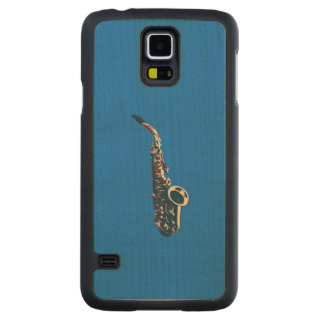 Saxophone Carved Maple Galaxy S5 Case