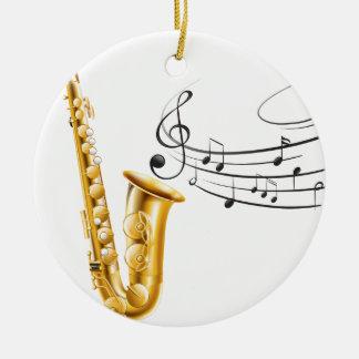 Saxophone Christmas Ornament