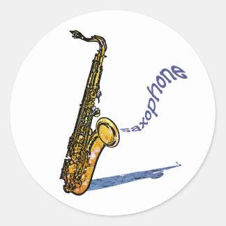 Saxophone Classic Round Sticker