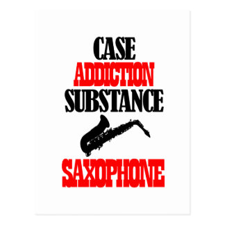 saxophone designs postcard