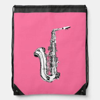 Saxophone Drawstring Bag