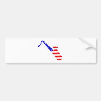 Saxophone Flag Background Bumper Sticker