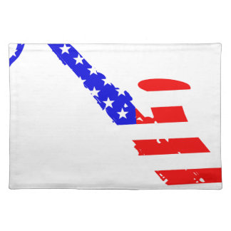 Saxophone Flag Background Placemat