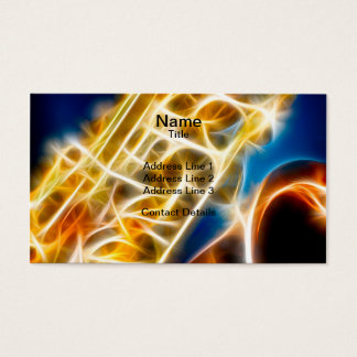 Saxophone - Fractal Business Card