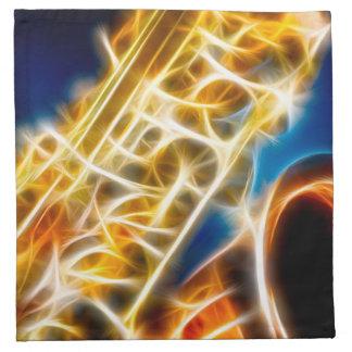 Saxophone - Fractal Napkin