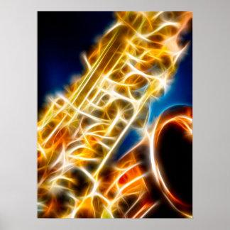 Saxophone - Fractal Poster