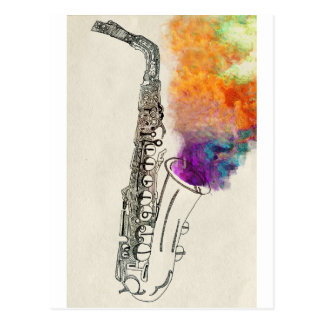 Saxophone Healing Postcards