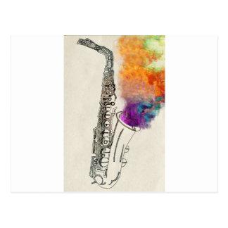 Saxophone Healing Postcard