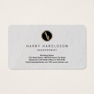 Saxophone Icon Saxophonist Premium Business Card
