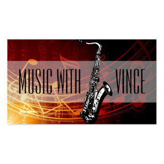 Saxophone Instructor Music Studio Business Card Pack Of Standard Business Cards