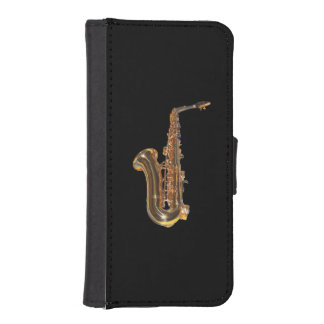 Saxophone iPhone SE/5/5s Wallet Case